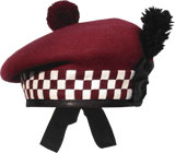 "Diced ""Airborne Maroon"" Balmoral Hat"