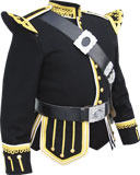 Black Gold Scroll Trim Doublet