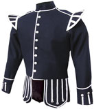 Dark Blue Highland Pipe and Drum Band Doublet