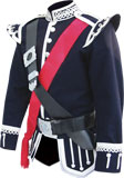 Navy Blue Piper Doublet with Silver Scroll Trim