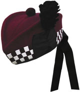 "Diced ""Airborne Maroon"" Glengarry Hat"