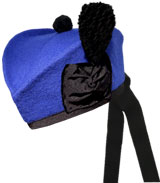 Royal Blue Glengarry Hat
